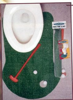 Golf Gifts & Gallery Clubhouse Collection Bathroom Golf Game by Golf Gifts & Gallery. $19.99. You get home from a long day at work. The kids are bothering you. The wife is being her lovely self. All you want to do is practice your putt but you don't have the time to hit the course for a few weeks. Well, why not work out the kinks in your putting game with our Bathroom Golf Game? It's a true innovation in getting the most out of each trip to the restroom. Get one for t...