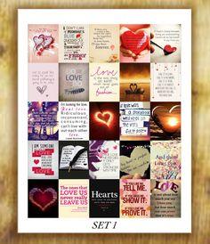 Love Quotes Stickers Set 1 for Erin Condren by RemanDesignStudio
