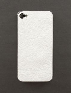 white leather iPhone skin $27 yes please!