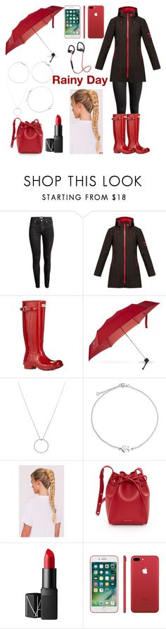 """""""Rainy Day"""" by natalielikesshopping ❤ liked on Polyvore featuring H&M, Ilse Jacobsen Hornbaek, Hunter, Victorinox Swiss Army, Roberto Coin, Bling Jewelry, Mansur Gavriel, NARS Cosmetics and New Balance"""