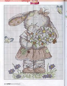 color key available - graficos infantiles punto de cruz | Aprender manualidades es facilisimo.com