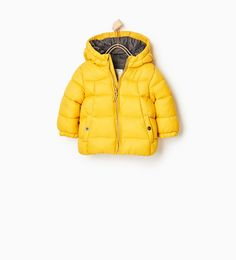Doudoune jaune Zara, à HT en 6-9 mois
