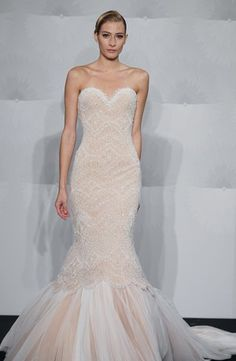 if only...  Bridal Gowns: Mark Zunino Mermaid Wedding Dress with Sweetheart Neckline and Dropped Waist Waistline