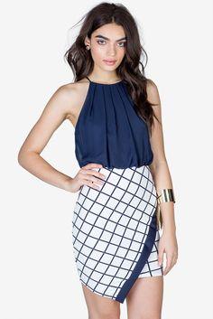 Gridlocked Origami Dress