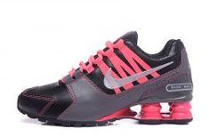 new product b8a67 1b7be Elegant Shape Nike Shox NZ Shox Avenue Lather Black Gray Pink Woman s  Athletic Running Shoes