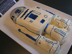 A R2-D2 birthday cake that I'll be making for my son's 6th birthday party this weekend.