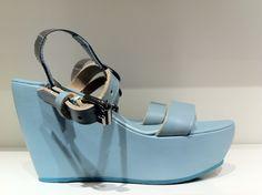 acne platform sandle. eggshell blue!