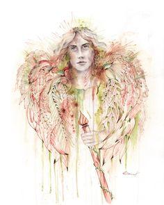 Erzengel Raphael ~ღ~ Schutzengel ~ღ~ Engelbild, als Fine Art Print