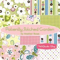 Patiently Stitched Garden Fat Quarter Bundle Heather Rosas for Camelot Cottons