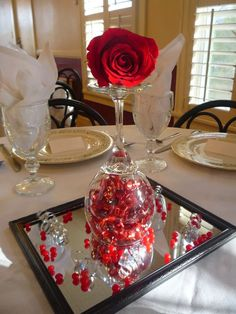 88 Romantic Valentine'S Day Centerpieces Decoration Ideas - Centerpiece Decorations, Table Centerpieces, Wedding Centerpieces, Wedding Table, Wedding Decorations, Centrepieces, Red Wedding, Valentines Day Decorations, Valentine Day Crafts