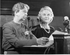 Eleanor Roosevelt and Clementine Churchill during a radio broadcast at the Second Quebec Conference. September 1944. ♡❀❁❤❁❤❁❤❁❤❁❤♡❀ http://en.wikipedia.org/wiki/Eleanor_Roosevelt http://en.wikipedia.org/wiki/Clementine_Churchill,_Baroness_Spencer-Churchill