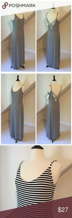 NWT O'Neill Summer Maxi Dress NWT O'Neill Summer Maxi Dress...a summer staple!...super soft viscose/elastane blend...flattering stripes in cream and black...adjustable shoulder straps...cross-cross detail at low back...machine washable. Retail $54 O'Neill Dresses Maxi