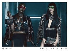 Ajak Deng @IMGmodels, Hailey Baldwin @haileybaldwin by Steven Klein @skstudly for Philipp Plein @philipp_plein Spring 2016 #light #color