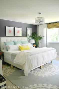 Master Bedroom Makeover, design ideas by Lilikoi Joy www.blissfullyeverafter.net