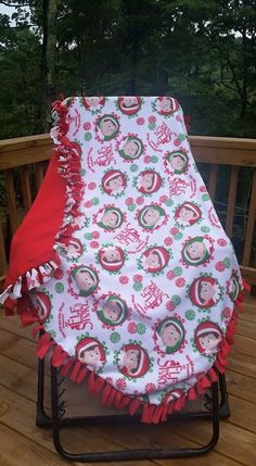 Elf on the shelf blanket by BudzynBlankets on Etsy