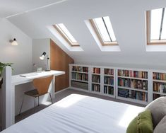Stunning Small Attic Bedroom Design Ideas 37