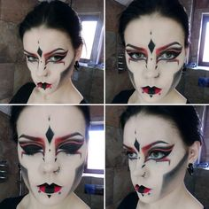 Sith Lord makeup.                                                                                                                                                                                 More