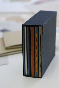 This is a cool idea to store binding examples in a bookbinding case