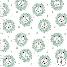 Mint Lion by Elvelyckan Design - Euro Designer Knit - Organic Cotton Knit
