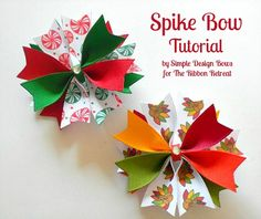Spike Bow Tutorial - This bow is easy and quick to make! {The Ribbon Retreat Blog}