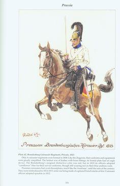 Prussia: Plate 42. Brandenburg Cuirassier Regiment, Private,1813