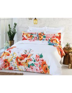 Intricate blooms from the peaceful Italian countryside cascade across this duvet cover set, with an artistic touch of paint stroke details. Stunning warm hues of orange and yellow create a natural retreat for you to relax. Decor, Duvet Covers, Duvet Cover Sets, Bed, Furniture, Hues, Home Decor, Comforters, Relax
