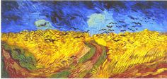 Van Gogh's last painting. Corn field with crows. Do you think Van Gogh already liked Polenta?