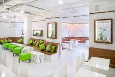 Y.A. Studio Café Design Frjtz, a Belgian cafes redesigned by San Francisco-based Architecture form Y.A. Studio.