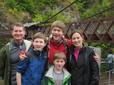 The lovely Wheeler Family at the Kawarau Bungy Bridge. You can read their feedback on our Facebook page - https://www.facebook.com/photo.php?fbid=554325707945653=a.536248286420062.1073741825.181010188610542=3 #NewZealand #FamilyHoliday #Travel