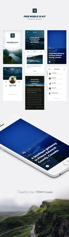 Introduction Of Mobile App UI Design For Travel Magazines Today's freebie is an amazing Mobile App UI Design For Travel Magazines released by Patryk Wąsik. Mobile Ui Design, App Ui Design, User Interface Design, App Design Inspiration, Mobile App Ui, Travel Magazines, Free, Mockup, Ui Elements