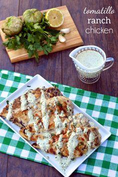 Tomatillo Ranch Chicken | Plaid and Paleo