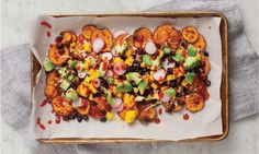 Loaded Sweet Potato Nachos Are Making All Our Snacking Dreams Come True Hero Image