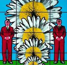 Gilbert and George- Obsession and Compassion - at this posting, both still alive. Artist Art, Neo Pop, John Baldessari, Keith Haring, Grayson Perry Art, Robert Morris, Contemporary Artists, Modern Art, Surrealism