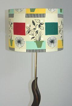 1950s floor lamp in brass and teak, standard lamp, retro, organic shapes, mid-century, vintage