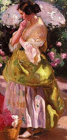 Victor Moya Calvo (Valencia 1890-Barcelona 1972) -Florista valenciana