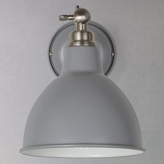 Buy John Lewis & Partners Aiden Wall Light, Grey from our Wall Lighting range at John Lewis & Partners. Bedside Wall Lights, Indoor Wall Lights, Bedside Lighting, Bathroom Wall Lights, Room Lights, Wall Sconce Lighting, Kitchen Wall Lighting, Wall Lamps, Ceiling Lights