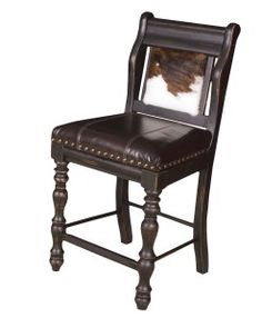 Cowhide and Leather Bar Stools and Counter Stools, available with and without Arms | Western Furniture and Decor From RusticArtistry.com