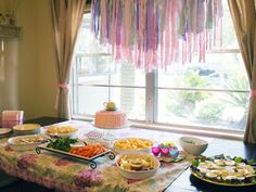 Bunting in high tea party