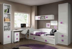 #Dormitorio #juvenil con cama nido