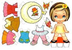 Muñecas para recortar: Muñecas de papel para recortar con vestidos