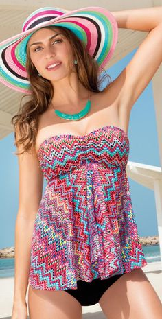 Profile 2015 Party Time Flyaway Bandeau Tankini