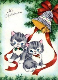 Christmas card kittens