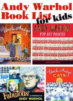 Whenever I introduce my kids to a new artist, I approach it like I'm introducing them to just a regular person who happened to make really cool art. There are a couple of really fun children's books written by Andy Warhol's nephew, which makes this approach especially easy.  Once my son found out that he had 25 cats all named Sam, Andy Warhol officially became the coolest guy ever! These are the books we read... we loved them all!