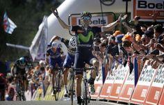 Flèche Wallonne : Valverde n'a jamais été inquiété pour son 4e sacre -  Il connaît le Mur de Huy comme sa poche et n'a pas manqué de le confirmer pour une quatrième fois, ce mercredi : le champion d'Espagne Alejandro Valverde (Movistar) a parfaitement contrôlé la 80e édition de la Flèche Wallonne avec son équipe, avant d'assurer le tempo sur le Mur de Huy pour lancer la