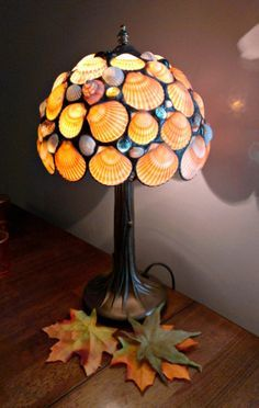 Stained Glass Table Lamp Seashells. $150.00, via Etsy. More