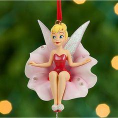 Tinker Bell on Flower Sketchbook Ornament - Red | Ornaments | Disney Store (for me lol)