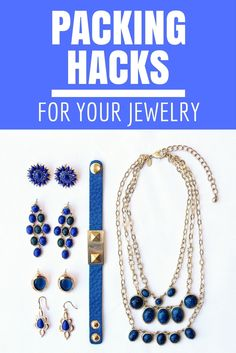 3 priceless hacks for packing jewelryl Packing Jewelry, Travel Jewelry, Jewelry Necklaces, Bracelets, Beaded Jewellery, Carry On Packing, Suitcase Packing, Packing Tips For Travel, Bon Voyage