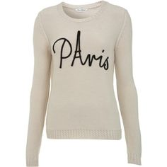 this is so you @Laura Means! Miss Selfridge Paris Jumper ($68) found on Polyvore