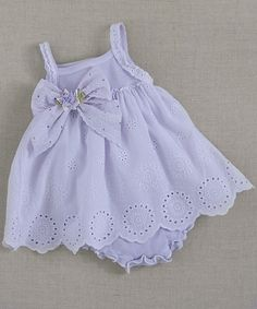 Violet Eyelet Skirted Bodysuit - Infant by Truffles Ruffles #zulily #zulilyfinds