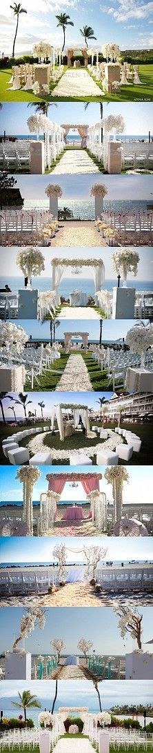 Wedding views and ceremony set-up ideas.